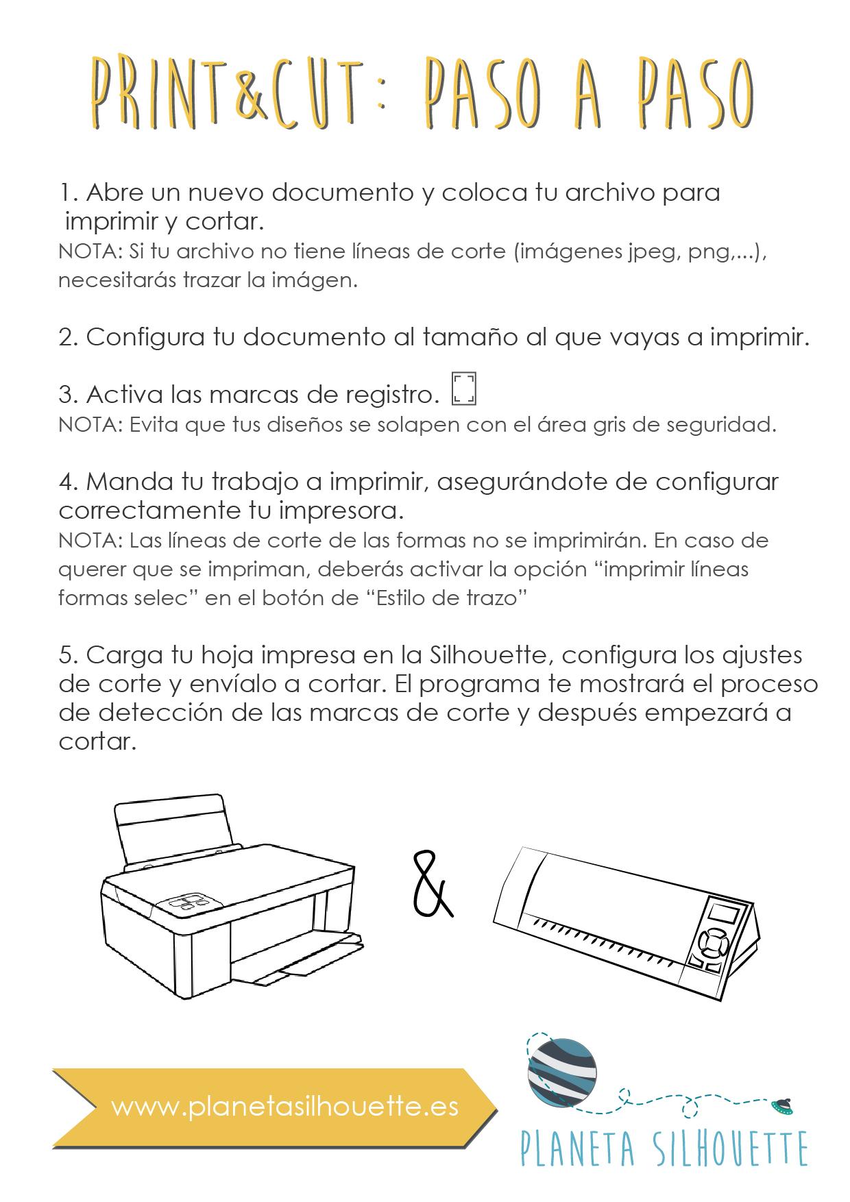 Imprimir y Cortar con tu Silhouette   Planeta Silhouette