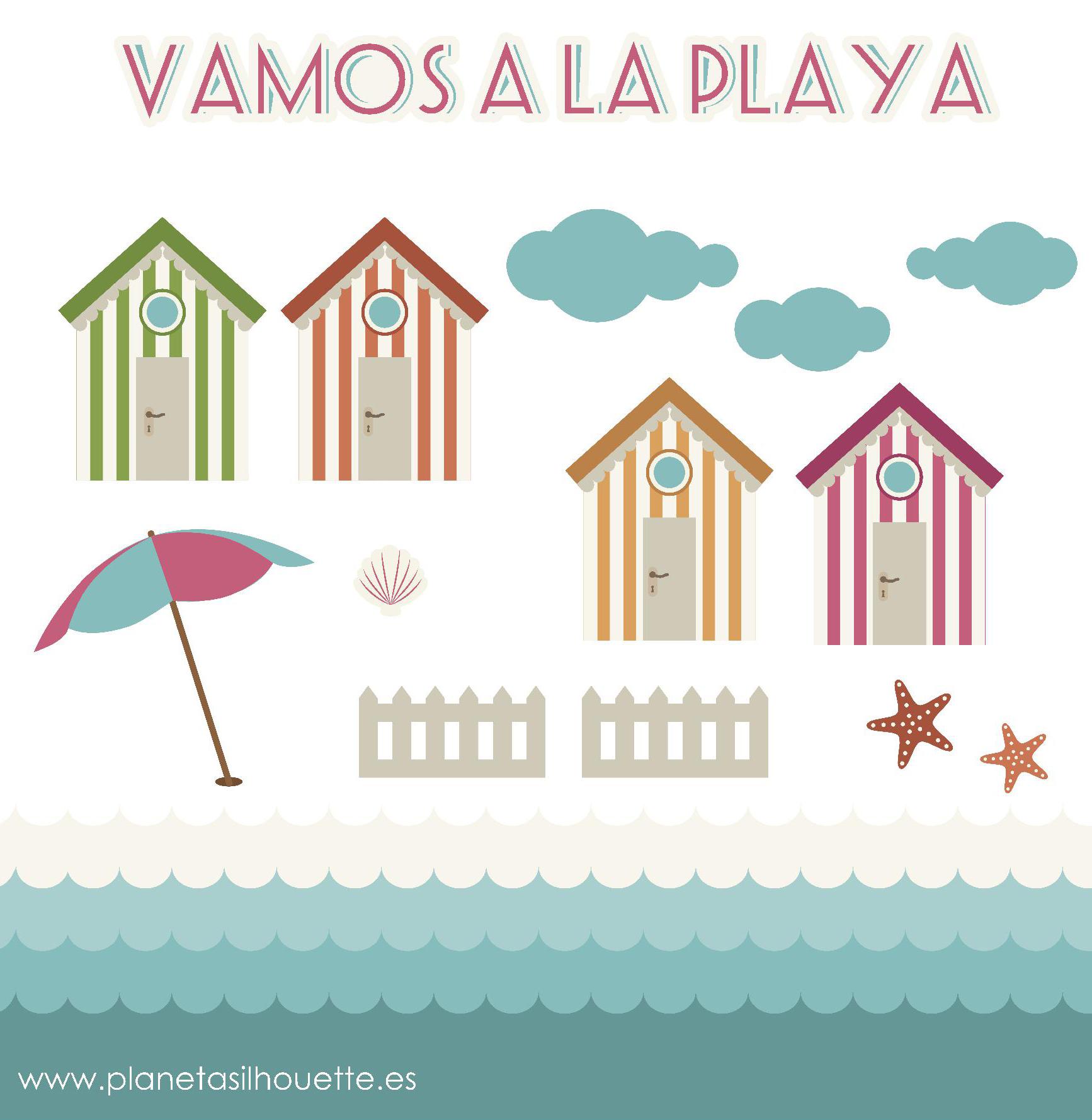 archivo gratuito vamos a la playa planeta silhouette. Black Bedroom Furniture Sets. Home Design Ideas