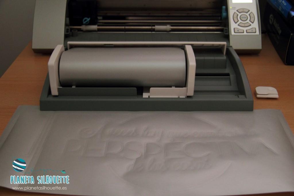 cortando frosted vinyl