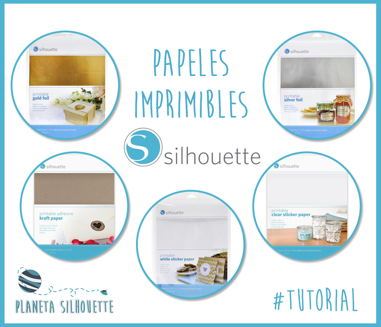 Papeles imprimibles adhesivos de silhouette planeta for Donde venden stickers para pared