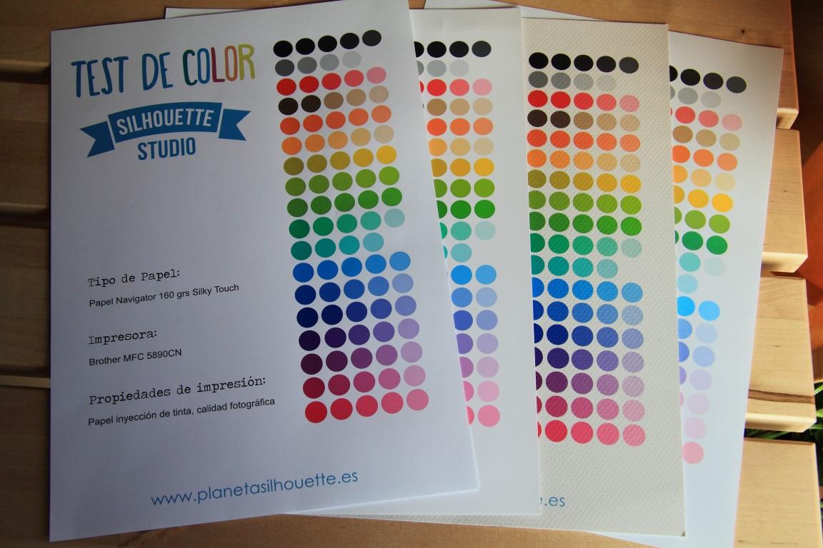 Los colores impresos desde Silhouette Studio. | Planeta Silhouette