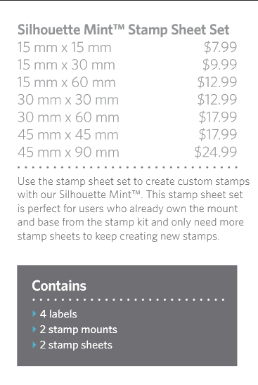 Stamp Sheet Set