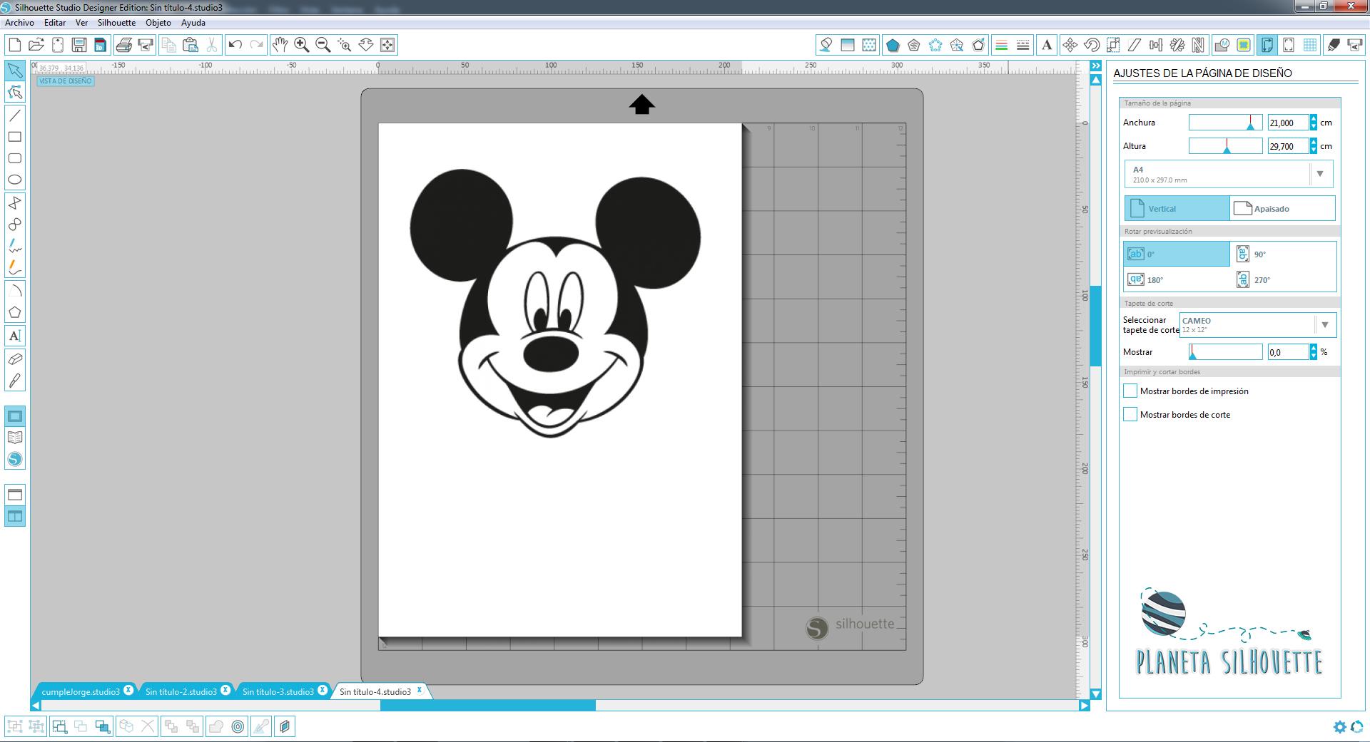 Banner de Mickey Mouse (paso a paso). | Planeta Silhouette